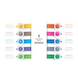 10 circle tab step infographic with abstract vector image