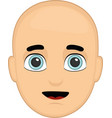 a bald persons face vector image vector image