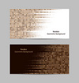 abstract brown dotted background halftone vector image vector image
