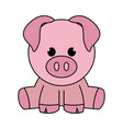 abstract cute pig vector image vector image