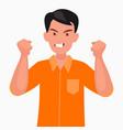 anger evil man expresses his negative vector image