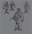 Armed Men vector image vector image