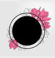banner template with black round vector image