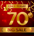 big sale seventy percent for discount vector image vector image