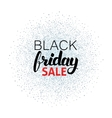 Black Friday Sale Calligraphy over Silver vector image vector image