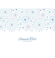 blue abstract line art circles horizontal vector image