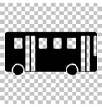 Bus simple sign Flat style black icon on vector image vector image