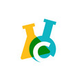 c letter lab laboratory glassware beaker logo icon