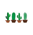 cactus icon design template isolated vector image vector image