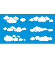 Clouds Isolated on Blue Clouds Collection vector image vector image