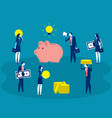 crowdfunding project concept business vector image