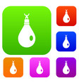 crystal pendant set color collection vector image vector image