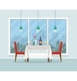 Dining table for date with glasses of wine vector image vector image