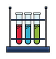 drawing test tube rack laboratory chemistry vector image vector image