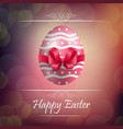 easter egg background with red ribbon vector image vector image
