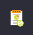 expense report icon flat style vector image vector image