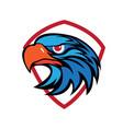 falcon head vector image vector image