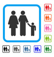 family framed icon vector image vector image