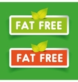 Fat free label set vector image vector image