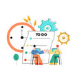 flat coworking team building worker table vector image vector image