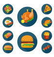 flat style food icon set vector image