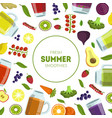 fresh summer smoothies banner template with vector image vector image