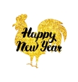 Gold New Year Poster vector image vector image