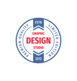 graphic design studio - concept logo circle vector image vector image