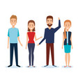 group of people avatars characters vector image