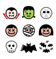halloween characters design set - dracula vector image