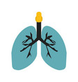 lungs flat multi color vector image vector image