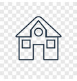 mansion concept linear icon isolated on vector image