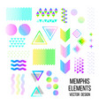 memphis pattern elements vector image
