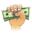 Money in people hand vector image