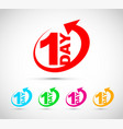 one day icon set vector image vector image
