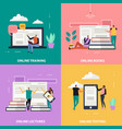 online education flat design concept vector image vector image
