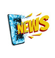 online news concept vector image vector image