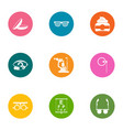 optical icons set flat style vector image vector image