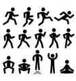 people figures in motion running walking vector image vector image