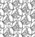 Pineapple peel seamless background Sketch Black