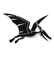 pterosaurs dinosaur icon simple style vector image vector image