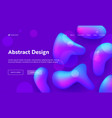 purple abstract geometric drop shape landing page vector image