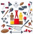 Rewarding athletes sport goods racquet weight vector image