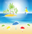 sand beach vector image vector image