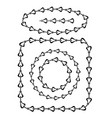 set different chain frames isolated on white vector image vector image