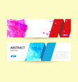 set horizontal summer web banner templates blue vector image