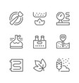 set line icons brewery vector image vector image