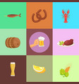 set of food and beer types vector image vector image