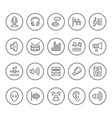 set round line icons sound vector image vector image