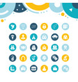 set simple icons wedding vector image vector image